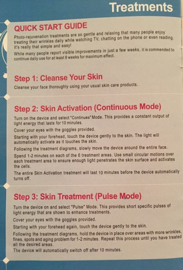 Instructions for Norlanya Light Therapy