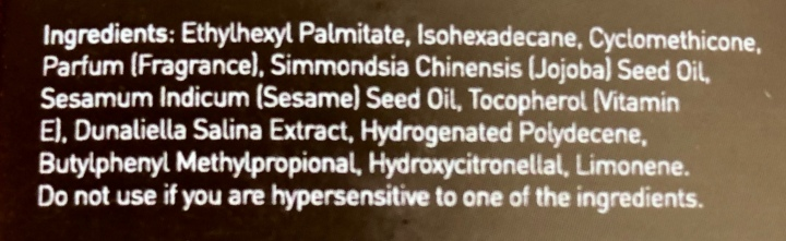 Dry Oil Ingredients